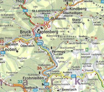 strassenkarte sterreich landkarte austria g nstig. Black Bedroom Furniture Sets. Home Design Ideas